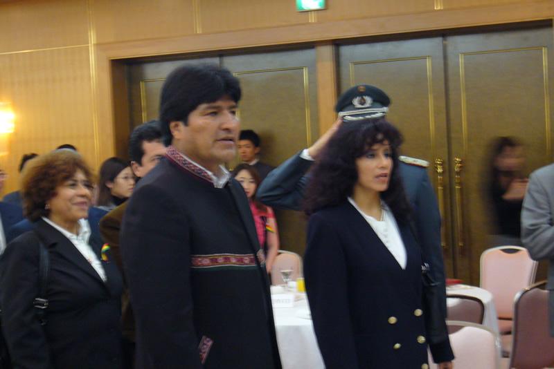 2007年3月に来日したモラレス大統領